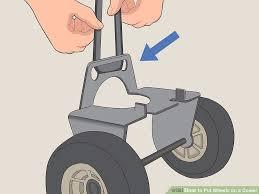 image titled put wheels on a cooler step 1