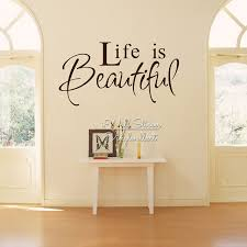 Beautiful Wall Quotes Best of Life Is Beautiful Quote Wall Sticker Life Wall Quotes Home Decor