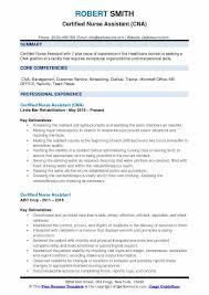Sample Nursing Assistant Resume Certified Nurse Assistant Resume Samples Qwikresume