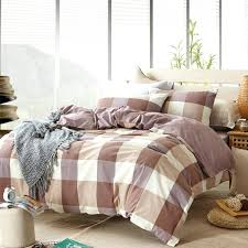 plaid comforter cover gray plaid duvet cover sets for single or double bed cotton plaid bedding plaid comforter cover