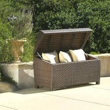 outdoor wicker storage cabinet deck storage bench patio furniture