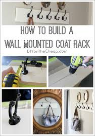 Cheap Wall Mounted Coat Rack Inspiration How To Build A Wall Mounted Coat Rack Erin Spain