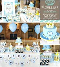 baby shower decoration boy little prince theme ideas diy
