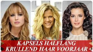 Mooie Kapsels Halflang Krullend Haar Voorjaar 2018