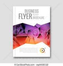 Brochure Graphic Design Background Colorful Business Background Triangle Design Cover Brochure Magazine Flyer Report Geometric Template Layout Info Graphic Timeline Vector
