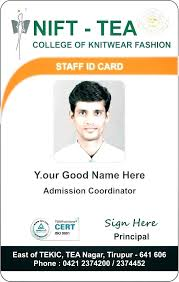 Id Cards Format Work Badge Template Psd C2is Co