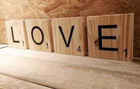 letters wooden scrabble wall decoration