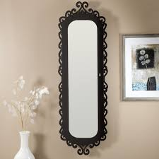 clic oval wall mirrors with twig pattern frames as traditional