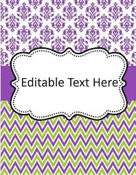 Editable Binder Cover Templates Free Editable Binder Cover Templates Google Search Preschool