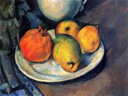 still life with pomegranate and pears oil of paul cézanne painted between 1885 and