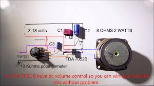 1 2 w amplifier tda7052 wiring diagram youtube volume control switch wiring diagram Volume Control Wiring Diagram #42