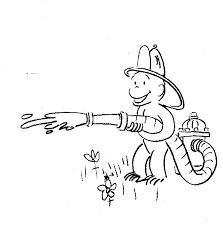 curious george fireman coloring sheet