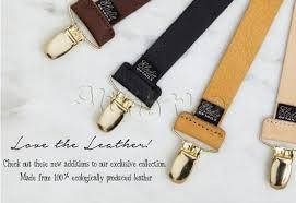 elo details pacifier clip holder genuine leather leather black
