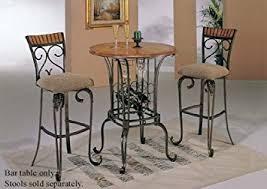 wine rack dining table. Bar Table With Wine Rack Bronze \u0026 Oak Finish Dining