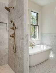 a combined tub and shower making the shower area larger but the combination pretty standard size option 2 is appealing because even though chris and i