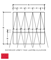 calculated lighting design plan elevation with symbols for task can light placement on ceiling with light