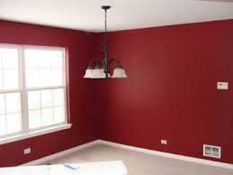 Dining Room Before Painting Dining room after painting with SW 7587 Antique  Red