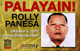 communist party of the all political prisoners file photo of security guard rolly panesa who the military claimed is a ranking communist