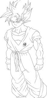 Small Picture Superb Dragon Ball Z Colouring Pages 14 Dragon Ball Z Goku