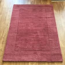 tuscany sienna plain bordered rug raspberry 120 x 170 cm 4 x