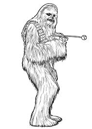Small Picture Chewbacca in Star Wars Coloring Page Download Print Online