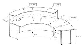typical desk height reception desk counter height full size of home typical reception desk height home