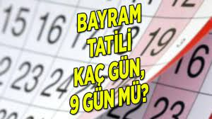 Kamu ve özel sektör çalışanları bayram tatili kaç gün? Ramazan Bayramı tatili  kaç gün olacak?