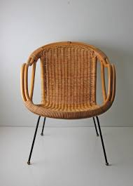 modern rattan furniture. mid century modern arthur umanoff style wicker basket chair as kids we avoided this without pads was rattan furniture r