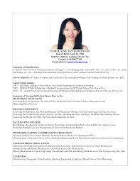 Magnificent Resume Sample For Nurses Fresh Graduate Images Entry