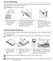 how to remove oven door and inner glass