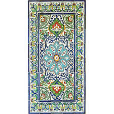antique looking persian area rug architectural bahar design 40 tile ceramic wall art on art wall tiles ceramic with shop antique looking persian area rug architectural ferdawas design