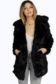 boohoo amanda faux fur oversized collar coat