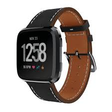 eimo genuine leather strap for fitbit versa bracelet wristband watch bands fitbit versa band smarch accessories watchband in watchbands from watches on