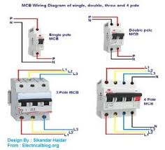 4 pole breaker wiring electrical work wiring diagram \u2022 two pole gfci breaker wiring diagram mcb wiring connection diagram for single double three and four pole rh electricalblog org mechanically linked circuit breaker 200a e16248 circuit breaker