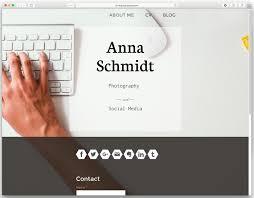 Online Resume Website Amazing Build A Resume Website Your CV Online Jimdo