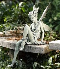 fairy garden statues. Woodlands Fairy Girl Statue, Woodland Flower Garden Statues, Winged Statues R