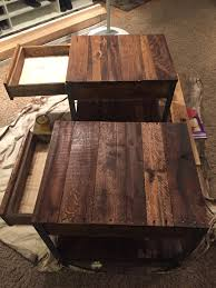 furniture made from wood. Furniture:Diy Side Tables Made From Pallet Wood And Angle Iron Weekend In Furniture Magnificent