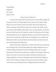 canterbury tales essay depinto vincent depinto english ap mr  canterbury tales essay depinto 1 vincent depinto english 3ap mr vreeland 20th 2012 estates in the wife of baths tale in the poem the canterbury