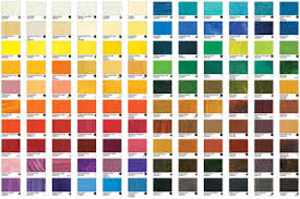 Williamsburg Oil Paint Printed Colour Chart