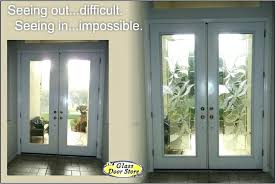 privacy glass interior doors a replace the clear inserts in tall double door 15 panel glas
