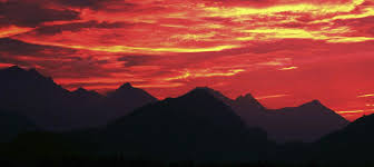 mountain sunsets canvas prints