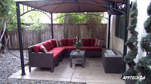remodel furniture. backyard before u0026 after remodel tv fire pit lshaped couch must see 06212013 youtube furniture