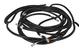 industrial braided wire harnesses wire harness multiple breakouts waterproof connectors protective tubing