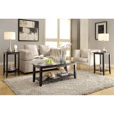 convenience concepts carmel coffee table in black