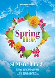 Flyer Poster Templates Spring Break Flyer Free Template Freedownloadpsd Com