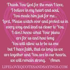 Godly Quotes About Love And Strength Thank You God For The Man I