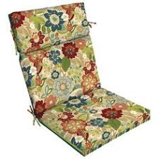 Garden Treasures Blue Flame Stitch Reversible High Back Chair