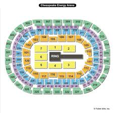 Oklahoma City Thunder Arena Seating Chart Chesapeake Energy Arena Oklahoma City Ok Seating Chart View