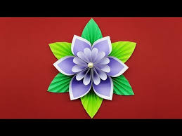 Paper Flower Making Video How To Make Paper Flower Easy Diy Flowers Making Tutorial Paper