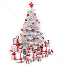 white and red isoloated christmas tree stock photo  pablo scapinachis  armstrong (arquiplay77) (#358262) | Stockfresh